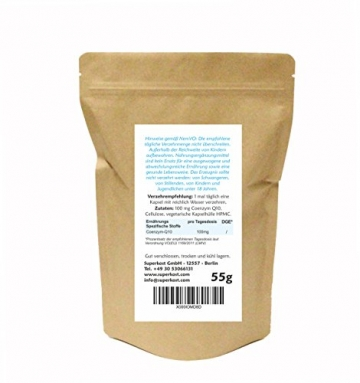 8 Monatspackung SUPERKOST Coenzym Q10 - CoQ10 - 240 Kapseln mit je 100mg pro KAPSEL HOCHDOSIERT ohne Magnesiumstearat, transparente Kapselhülle, vegetarisch - 2