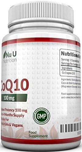 Coenzym Q10 100 mg - CoQ10-Nahrungsergänzungsmittel - 120 Kapseln - Nahrungsergänzungsmittel von Nu U Nutrition - 2