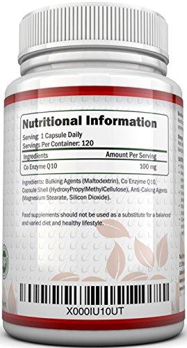 Coenzym Q10 100 mg - CoQ10-Nahrungsergänzungsmittel - 120 Kapseln - Nahrungsergänzungsmittel von Nu U Nutrition - 3