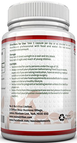 Coenzym Q10 100 mg - CoQ10-Nahrungsergänzungsmittel - 120 Kapseln - Nahrungsergänzungsmittel von Nu U Nutrition - 4
