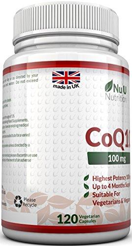 Coenzym Q10 100 mg - CoQ10-Nahrungsergänzungsmittel - 120 Kapseln - Nahrungsergänzungsmittel von Nu U Nutrition - 5