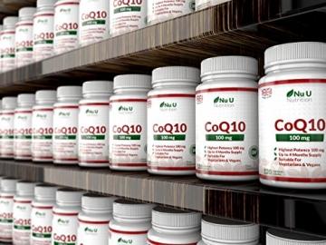 Coenzym Q10 100 mg - CoQ10-Nahrungsergänzungsmittel - 120 Kapseln - Nahrungsergänzungsmittel von Nu U Nutrition - 6