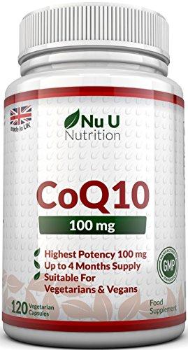 Coenzym Q10 100 mg - CoQ10-Nahrungsergänzungsmittel - 120 Kapseln - Nahrungsergänzungsmittel von Nu U Nutrition - 1
