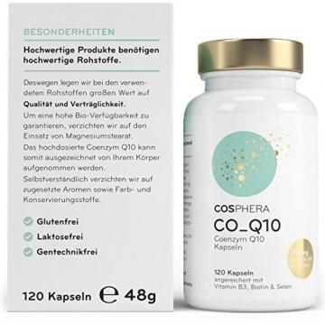 Coenzym Q10 - Hochdosiert mit 250 mg pro Kapsel. 120 vegane Kapseln im 4 Monatsvorrat - Angereichert mit Vitamin B3, Biotin und Selen - Für Haut, Anti-Aging, Herz-Kreislauf, Nerven- & Immunsystem - 2
