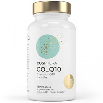 Coenzym Q10 - Hochdosiert mit 250 mg pro Kapsel. 120 vegane Kapseln im 4 Monatsvorrat - Angereichert mit Vitamin B3, Biotin und Selen - Für Haut, Anti-Aging, Herz-Kreislauf, Nerven- & Immunsystem - 3