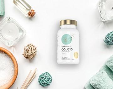 Coenzym Q10 - Hochdosiert mit 250 mg pro Kapsel. 120 vegane Kapseln im 4 Monatsvorrat - Angereichert mit Vitamin B3, Biotin und Selen - Für Haut, Anti-Aging, Herz-Kreislauf, Nerven- & Immunsystem - 4