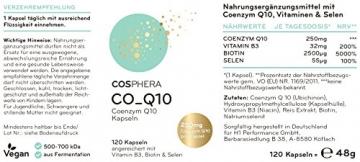 Coenzym Q10 - Hochdosiert mit 250 mg pro Kapsel. 120 vegane Kapseln im 4 Monatsvorrat - Angereichert mit Vitamin B3, Biotin und Selen - Für Haut, Anti-Aging, Herz-Kreislauf, Nerven- & Immunsystem - 6
