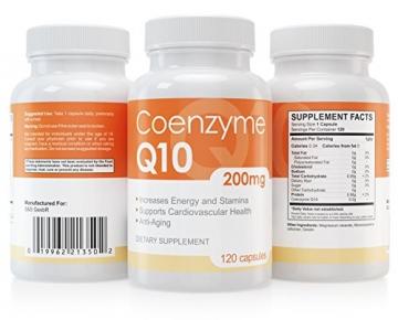 Coenzym Q10 Kapseln - 120 Stück je 200 mg - hochdosiert - Made in Germany - Energie, Ausdauer & junge, gesunde Haut - unterstützt Herz-Kreislaufsystem, Nerven & Immunsystem - 2