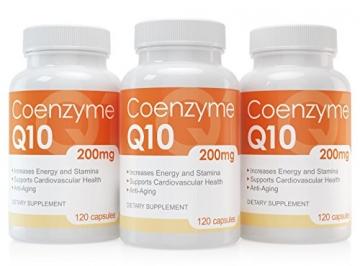 Coenzym Q10 Kapseln - 120 Stück je 200 mg - hochdosiert - Made in Germany - Energie, Ausdauer & junge, gesunde Haut - unterstützt Herz-Kreislaufsystem, Nerven & Immunsystem - 5