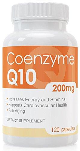 Coenzym Q10 Kapseln - 120 Stück je 200 mg - hochdosiert - Made in Germany - Energie, Ausdauer & junge, gesunde Haut - unterstützt Herz-Kreislaufsystem, Nerven & Immunsystem - 1
