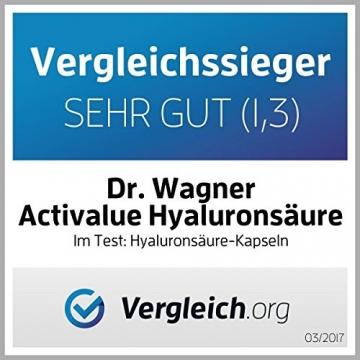 Der VERGLEICHSSIEGER bei vergleich.org 2017 zum AKTIONSPREIS: Hyaluronsäure Kapseln MICRO-MOLECULAR 500-700 kDa | das ORIGINAL von Dr.med. Wagner in deutscher Premium-Qualität | EXTRA HOCHDOSIERT mit 250mg reiner Hyaluronsäure pro Kapsel und HOHE BIOVERFÜGBARKEIT, da ohne Magnesiumstearat | 100% vegan | AKTIONSPREIS! - 3