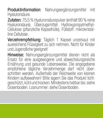 Der VERGLEICHSSIEGER bei vergleich.org 2017 zum AKTIONSPREIS: Hyaluronsäure Kapseln MICRO-MOLECULAR 500-700 kDa | das ORIGINAL von Dr.med. Wagner in deutscher Premium-Qualität | EXTRA HOCHDOSIERT mit 250mg reiner Hyaluronsäure pro Kapsel und HOHE BIOVERFÜGBARKEIT, da ohne Magnesiumstearat | 100% vegan | AKTIONSPREIS! - 4