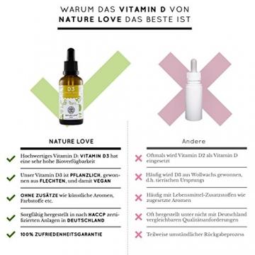 Der zweifache SIEGER 2017*: Vitamin D3 1000 I.E - 25 µg. Pflanzlich und vegan (50ml). Vitamin D3 (Cholecalciferol). Hoch bioverfügbares Vitamin D. Hochdosiert & hergestellt in Deutschland - 2