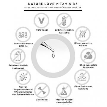 Der zweifache SIEGER 2017*: Vitamin D3 1000 I.E - 25 µg. Pflanzlich und vegan (50ml). Vitamin D3 (Cholecalciferol). Hoch bioverfügbares Vitamin D. Hochdosiert & hergestellt in Deutschland - 4