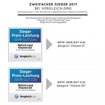 Der zweifache SIEGER 2017*: Vitamin D3 1000 I.E - 25 µg. Pflanzlich und vegan (50ml). Vitamin D3 (Cholecalciferol). Hoch bioverfügbares Vitamin D. Hochdosiert & hergestellt in Deutschland - 5