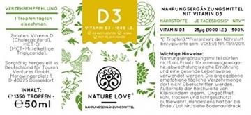 Der zweifache SIEGER 2017*: Vitamin D3 1000 I.E - 25 µg. Pflanzlich und vegan (50ml). Vitamin D3 (Cholecalciferol). Hoch bioverfügbares Vitamin D. Hochdosiert & hergestellt in Deutschland - 7