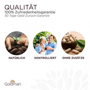 Goldman Vitamin D3 • 180 Kapseln hochdosiert mit 10.000IE • Vegan, laktosefrei, glutenfrei, zuckerfrei • Keine Magnesiumsalze • Sonnenvitamin • Made in Germany - 4