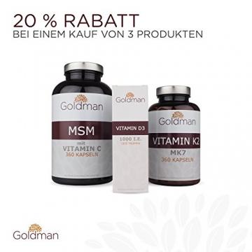 Goldman Vitamin D3 Flüssig • 50ml = 1850 Tropfen • 1 Tropfen = 25µg (1000 I.E.) • In MCT Öl gelöst • Vitamin D3 hochdosiert • Vegan, laktosefrei, glutenfrei • Made in Germany - 5