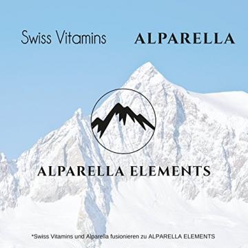 Hyaluronsäure Kapseln hochdosiert von Alparella Elements - 90 Kapseln, hochdosiert mit je 350 mg Hyaluronsäure-Pulver - Anti-Aging für Gelenke, Bänder und Haut - Made in Germany - 3