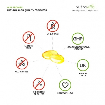 Vitamin D3 1000IU von Nutravita | Hochdosiert | 365 Softgel-Kapseln (Jahresversorgung) | Frei von Zusatzstoffen - 3