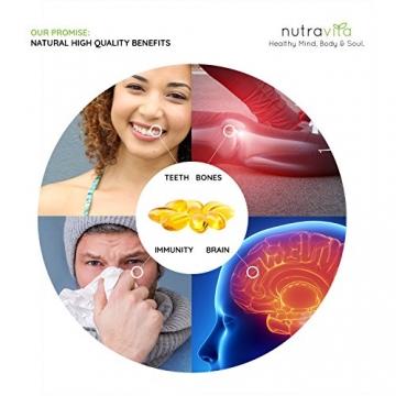 Vitamin D3 1000IU von Nutravita | Hochdosiert | 365 Softgel-Kapseln (Jahresversorgung) | Frei von Zusatzstoffen - 5