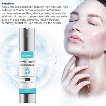 Hyaluronsäure Serum,Gesichts Serum mit Bio Inhaltsstoffen,Anti-Aging Gesichtspflege, gegen Gesichtfalten, Krähenfüße, Lachfalten, Linien und alle Alterserscheinungen werden drastisch reduzier der Haut - 5